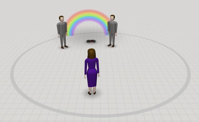 Aufstellungen im Online-Coaching - Bild erstellt mit coachingspaces
